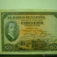 Billetes españoles: BILLETE DE CINCUENTA 50 PESETAS CON SELLO DE LA REPUBLICA 1927. Lote 48389554