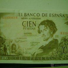 Billetes españoles: BILLETES DE CIEN 100 PESETAS Nº SERIE CORRELATIVOS ADOLFO BECQUER 1965. Lote 48389684