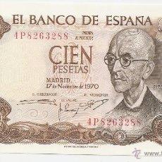 Notas espanholas: 100 PESETAS DE 1970. Lote 48544232