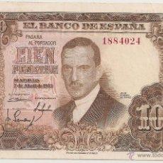 Billetes españoles: 100 PESETAS DE 1953 SIN SERIE-024 (MUY RARO Y BONITO). Lote 48703652