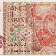 Billetes españoles: 2000 PESETAS DE 1980 SERIE 9A-651 PLANCHA (MUY RARO). Lote 48704235