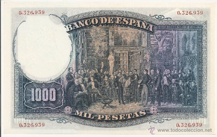 Billetes españoles: 1000 pesetas de 1931 sin serie-939 plancha-lujo (muy raro) - Foto 2 - 48704827