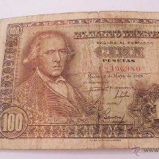 Billetes españoles: CURIOSO EJEMPLAR - BILLETE DE 100 PESETAS DE 2 DE MAYO DE 1948. Lote 49171201