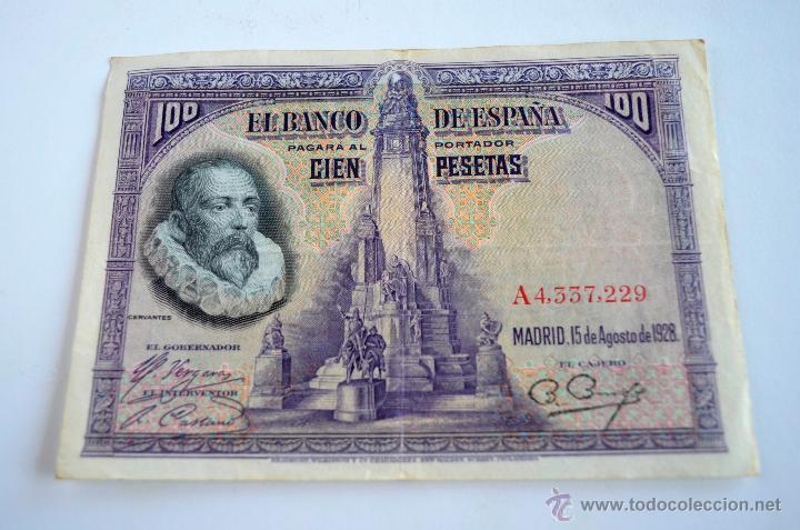 PEDIDO MINIMO 3 LOTES DISTINTOS BILLETE 100 PESETAS DE 1928 ESTADO:EBC - ESPAÑA (Numismática - Notafilia - Billetes Españoles)