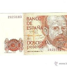 Billetes españoles: 200 PTAS 1980. Lote 49262868
