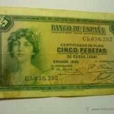 Billetes españoles: BILLETE 5 PTAS. BANCO ESPAÑA- EMISION 1935- BB. Lote 49357765
