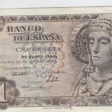 Billetes españoles: BILLETES ANTIGUOS DE ESPAÑA A BUEN PRECIO BILLETE OFERTA UNA 1 PESETA 19 JUNIO DE 1948 DAMA ELCHE. Lote 49577557