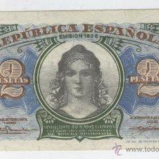 Billetes españoles: BILLETES ANTIGUOS DE ESPAÑA A BUEN PRECIO OFERTA 2 DOS PESETAS AÑO 1937 GUERRA CIVIL LA REPUBLICA. Lote 49578713