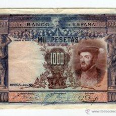 Billetes españoles: 1000 (MIL) PESETAS MADRID 1º DE JULIO 1925. Lote 49608622