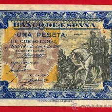 Billetes españoles: BILLETE , 1 PESETA , JUNIO 1940 , EBC , SERIE C , ORIGINAL, T775. Lote 49618016