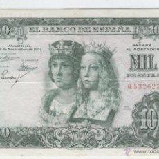 Billetes españoles: BILLETES ANTIGUOS DE ESPAÑA BUEN PRECIO ESPAÑOLES 1000 MIL PESETAS 29 DE NOVIEMBRE DE AÑO 1957 REYES. Lote 49619261