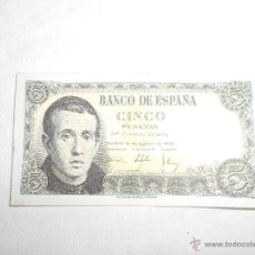 Billetes españoles: CINCO PESETAS 1951. Lote 49779963