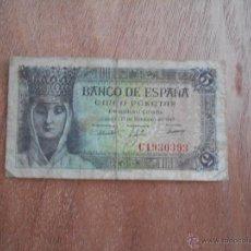 Billetes españoles: CINCO PESETAS 1943 C1930393. Lote 49781319
