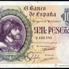 Billetes españoles: 1000 PESETAS 1940 SIN SERIE - BUEN EBC . Lote 49839566
