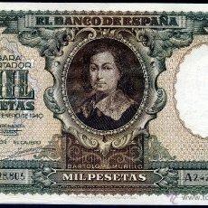 Billetes españoles: 1000 PESETAS ENERO 1940 - SERIE A - EBC+/S/C- UNICA MARCA CENTRAL - IMPRESIONANTE. Lote 49839784