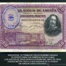 Billetes españoles: 50 PESETAS DE 1928 SELLO VIOLETA DE LA FALANGE ESPAÑOLA DE JOSE ANTONIO PRIMO DE RIVERA - Nº1. Lote 163080005