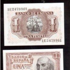 Billetes españoles: BILLETES ESPAÑOLES PAREJA CORRELATIVA Y PLANCHA FRANCO. Lote 50141084
