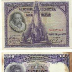 Billetes españoles: LOTE 3 BILLETES DE 100 PESETAS. Lote 50322074