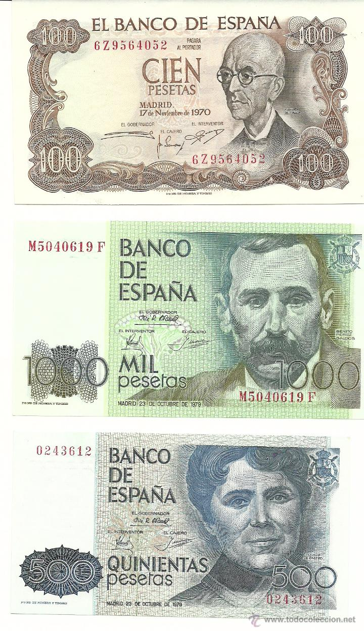 LOTE 3 BILLETES (Numismática - Notafilia - Billetes Españoles)