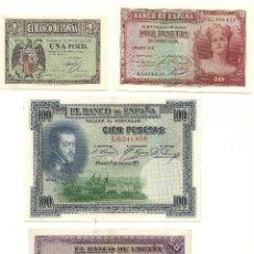 Billetes españoles: LOTE 4 BILLETES. Lote 50323077