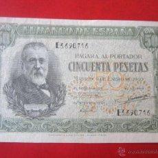 Billetes españoles: BILLETE DE 50 PTA. 1940. ESTADO ESPAÑOL. BANCO DE ESPAÑA. MADRID. Lote 50472388