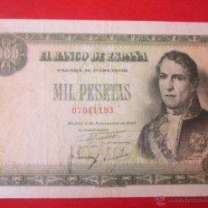 Billetes españoles: BILLETE DE 1000 PTA. 1949. BANCO DE ESPAÑA. MADRID. Lote 50473397