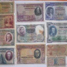 Billetes españoles: LOTE 12 BILLETES REPUBLICA, GUERRA CIVIL. Lote 50578481