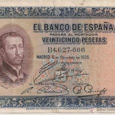 Billetes españoles: 25 PESETAS DE 1926 SERIE B-606 ALFONSO XIII. Lote 51206969