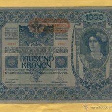 Billetes españoles: BILLETES 3 NO CONSECUTIVOS: TAUSEND KRONEN 1000-AUSTRIA-ENERO DE 1902-SERIE 2533-BILL.11. Lote 51816876