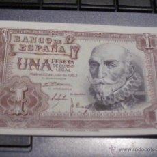 Billetes españoles: BILLETE DE 1 PESETA, NUEVO SIN CIRCULAR, AÑO 53. Lote 51921794