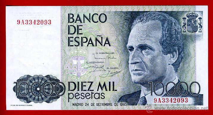 BILLETE 10000 PESETAS 1985 , PLANCHA , SERIE ESPECIAL 9A , ORIGINAL , T093 (Numismática - Notafilia - Billetes Españoles)