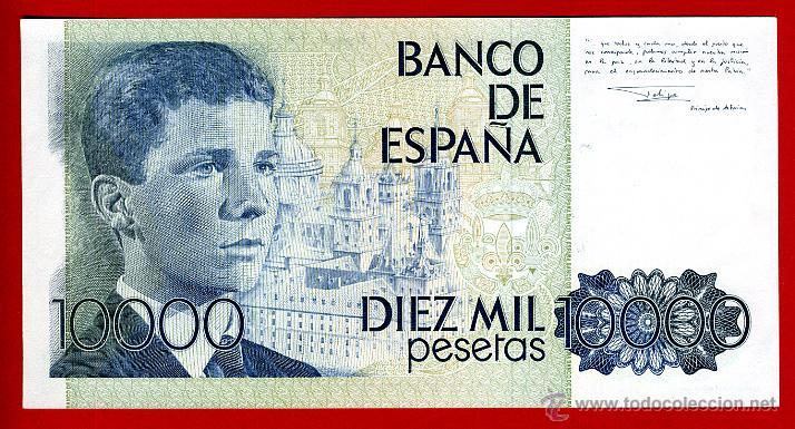 Billetes españoles: BILLETE 10000 PESETAS 1985 , PLANCHA , SERIE ESPECIAL 9A , ORIGINAL , T093 - Foto 2 - 52299357