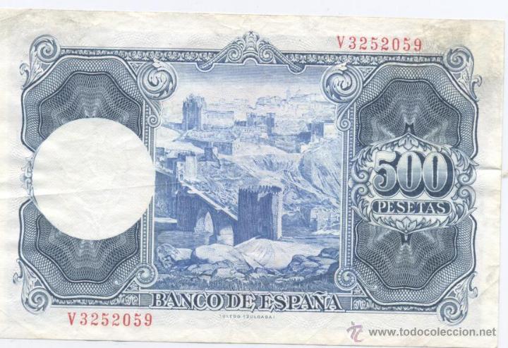 Billetes españoles: 500 PESETAS- 22-07-1954 - Foto 2 - 52330299