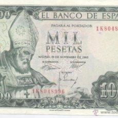 Billetes españoles: 1000 PESETAS- 19-11-1965. Lote 52330792