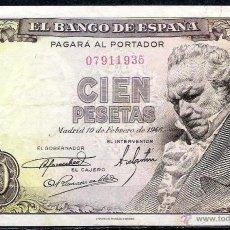 Billetes españoles: 100 PESETAS 1946 SIN SERIE MBC+. Lote 52528065