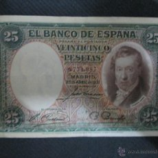 Billetes españoles: 25 PESETAS 25 DE ABRIL 1931 BC. Lote 53069727