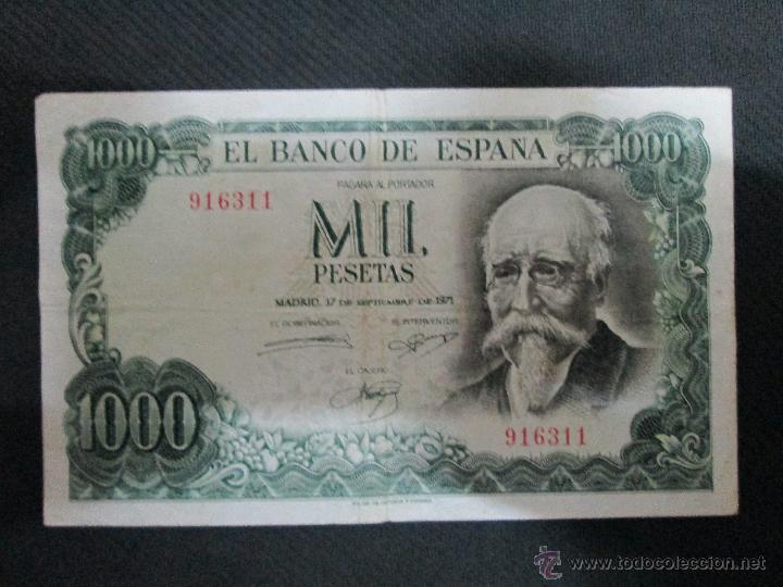 1000 PESETAS 17 DE SEPTIEMBRE 1971 SIN SERIE NUMERO 916311 (Numismática - Notafilia - Billetes Españoles)