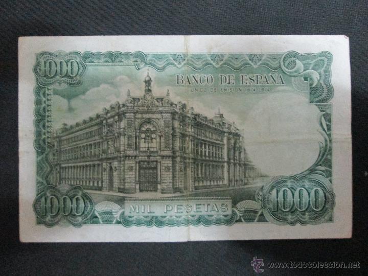 Billetes españoles: 1000 pesetas 17 de septiembre 1971 sin serie numero 916311 - Foto 2 - 53106062