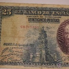 Billetes españoles: 25 PTS- 1928. Lote 53258634