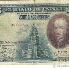 Billetes españoles: 25 PTAS- 1928. Lote 53258707