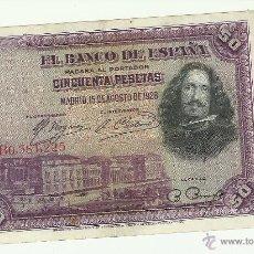 Billetes españoles: 50 PTAS. 1928. Lote 53258756