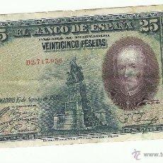 Billetes españoles: 25 PTAS- 1928. Lote 53258795