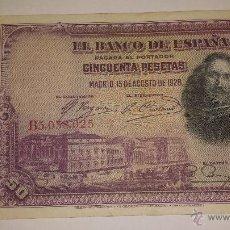 Billetes españoles: 50 PTAS. 1928. Lote 53259086