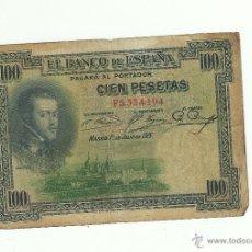 Billetes españoles: 100 PTAS. 1925. Lote 53259236