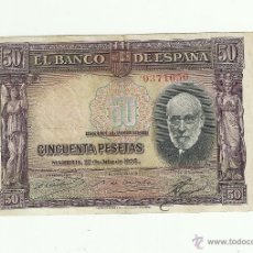 Billetes españoles: 50 PTAS. 1935. Lote 53259290