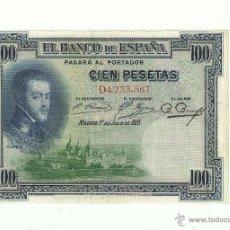 Billetes españoles: 100 PTAS. 1925. Lote 53259363