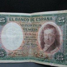 Billetes españoles: 25 PESETAS MADRID 25 DE ABRIL 1931 REPUBLICA ESPAÑOLA BC. Lote 53303162