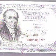 Billetes españoles: VEINTICINCO PESETAS. 1946. . Lote 53431741