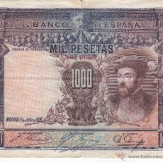 Billetes españoles: BILLETE: 1000 PESETAS 1 JULIO 1925. Lote 53464911