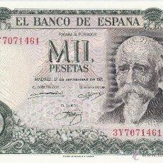 Billetes españoles: BILLETE: 1000 PESETAS 17 SEPTIEMBRE 1971 EBC +. Lote 53464987